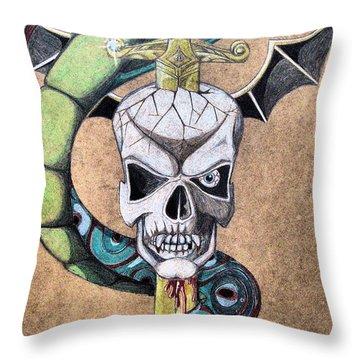 imaginative Simbol Throw Pillow by Alban Dizdari