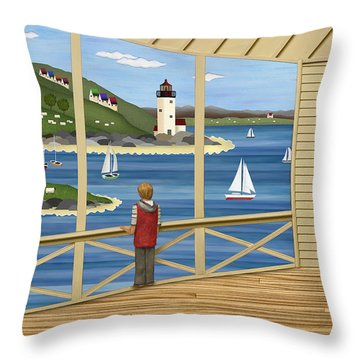 Imagine Throw Pillow by Anne Klar