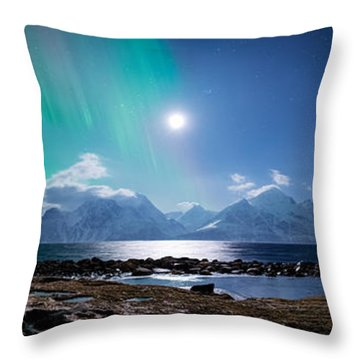 Imagine Auroras Throw Pillow