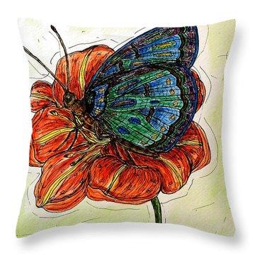 Imagine Butterflies A Throw Pillow