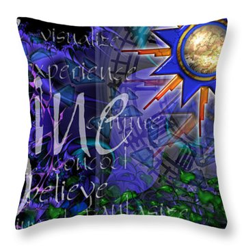Throw Pillow featuring the digital art Imagine by Kenneth Armand Johnson
