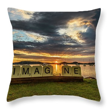 Imagine Sunrise Waterscape Over The Bay Throw Pillow