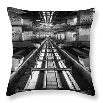 Imaginery Tracks Throw Pillow