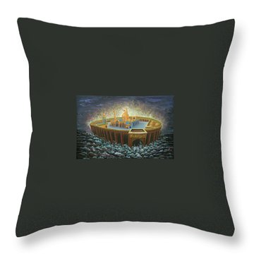 Imams Hussain  Throw Pillow by Reza Badrossama