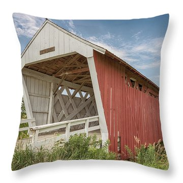Imes Covered Bridge Throw Pillow