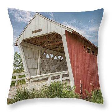 Imes Covered Bridge Throw Pillow