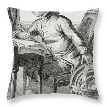 Immanuel Kant Throw Pillow