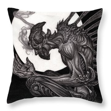 Immense Understanding Graphite Throw Pillow
