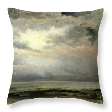 Immensity Throw Pillow by Gustave Courbet