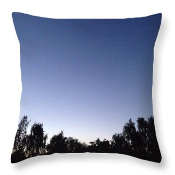 Evening 2 Throw Pillow by Gypsy Heart