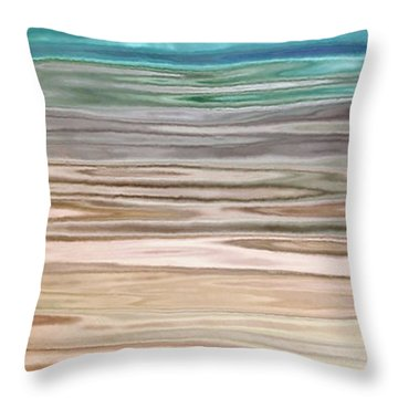Immersed - Abstract Art Throw Pillow