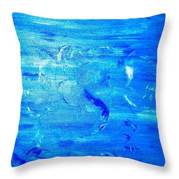 Throw Pillow featuring the painting Immersion by Piety Dsilva