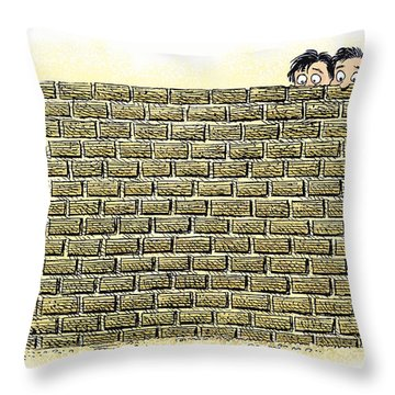 Immigrant Kids At The Border Throw Pillow