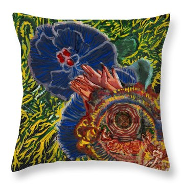 Immunity Activation Microbiology Landscapes Series Throw Pillow