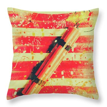 Impact Blast Throw Pillow