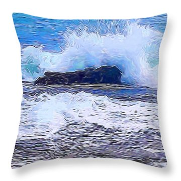 Ocean Impact In Abstract 1 Throw Pillow