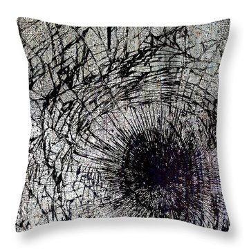 Throw Pillow featuring the mixed media Impact by Tony Rubino