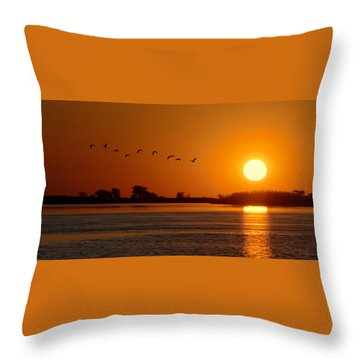 Impalila Island Sunset No. 1 Throw Pillow