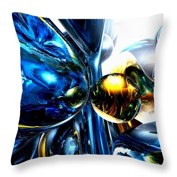 Impassioned Abstract Throw Pillow by Alexander Butler