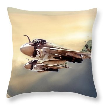 Impending Intrusion Throw Pillow by Peter Chilelli