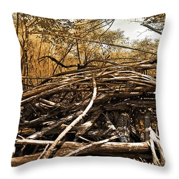 Throw Pillow featuring the photograph Impenetrable by Steve Sperry