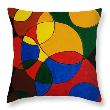 Imperfect Circles Throw Pillow