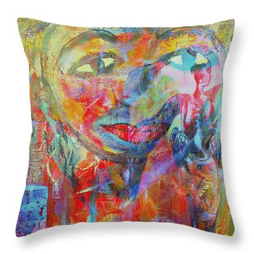 Imperfect Me Too Throw Pillow by Fania Simon