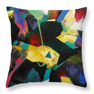 Throw Pillow featuring the painting Imperfection by Ray Khalife