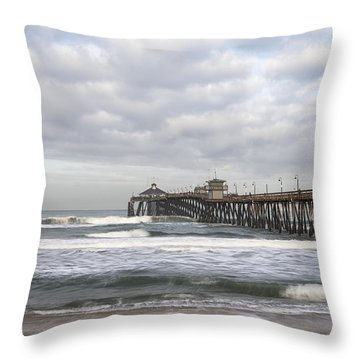 Imperial Beach Pier Throw Pillow