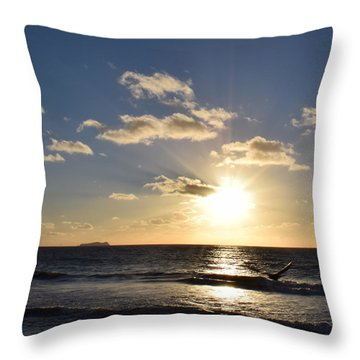 Sunset Reflection At Imperrial Beach Throw Pillow