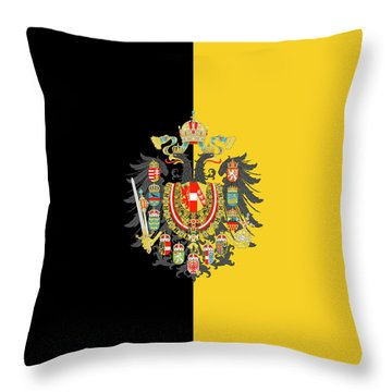 Habsburg Flag With Imperial Coat Of Arms 2 Throw Pillow