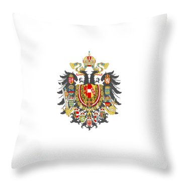 Imperial Coat Of Arms Of The Empire Of Austria-hungary Transparent Throw Pillow