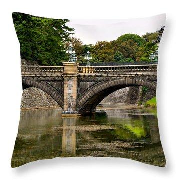 Imperial Garden Throw Pillow by Corinne Rhode