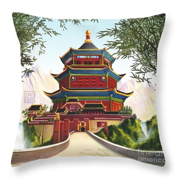 Imperial Palace Throw Pillow by Melissa A Benson