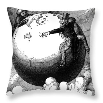 Imperialism Cartoon, 1876 Throw Pillow by Granger