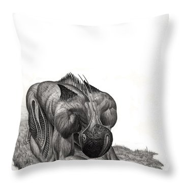 Impetus Graphite Throw Pillow