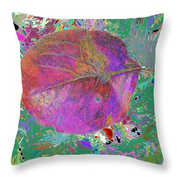 Imposition Of Leaf At The Season 4 Throw Pillow