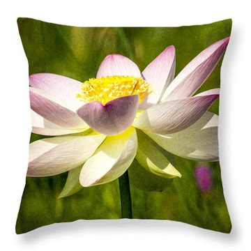 Impression Of A Lotus Throw Pillow