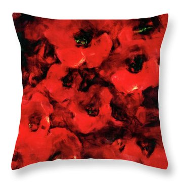 Impression Of Poppies Throw Pillow