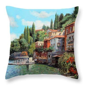 Impressioni Del Lago Throw Pillow
