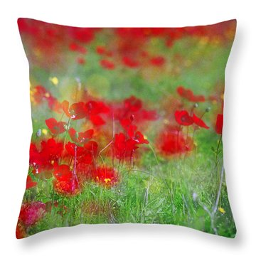 Impressionistic Blossom Near Shderot Throw Pillow by Dubi Roman
