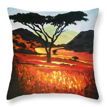 Impressionistic Dark Side Throw Pillow
