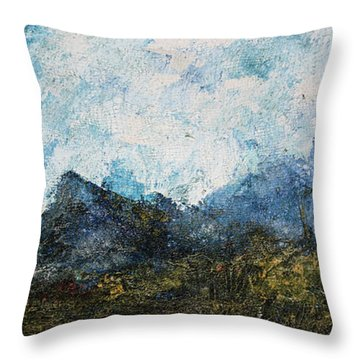 Impressionistic Landscape Throw Pillow