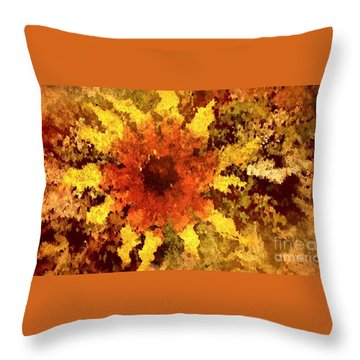 Impressionistic Petals Throw Pillow