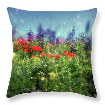 Impressionistic Springtime Throw Pillow by Dubi Roman