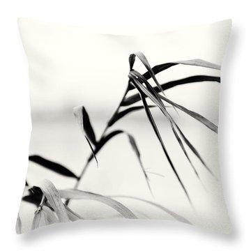 Impressions Monochromatic Throw Pillow by Tomasz Dziubinski