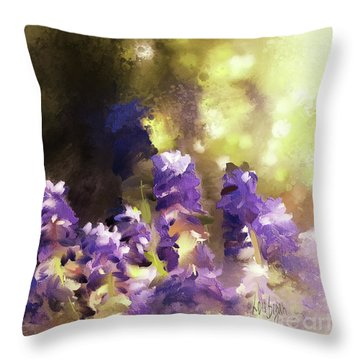 Impressions Of Muscari Throw Pillow by Lois Bryan
