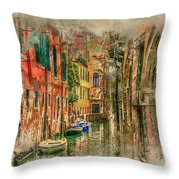 Impressions Of Venice Throw Pillow by Brian Tarr