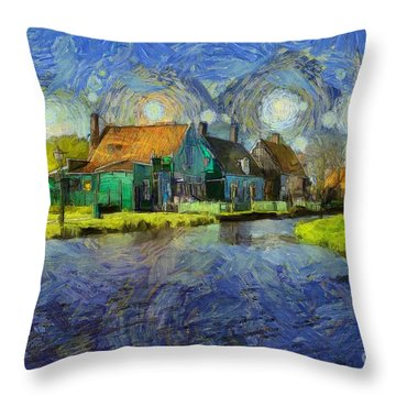 Impressions Of Zaanse Schans Throw Pillow