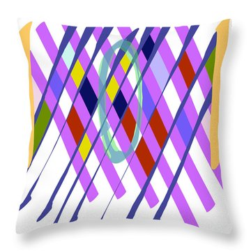Improvised Geometry #1 Throw Pillow